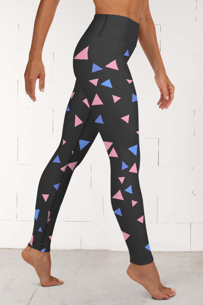 Confettis | Black Geometric Leggings