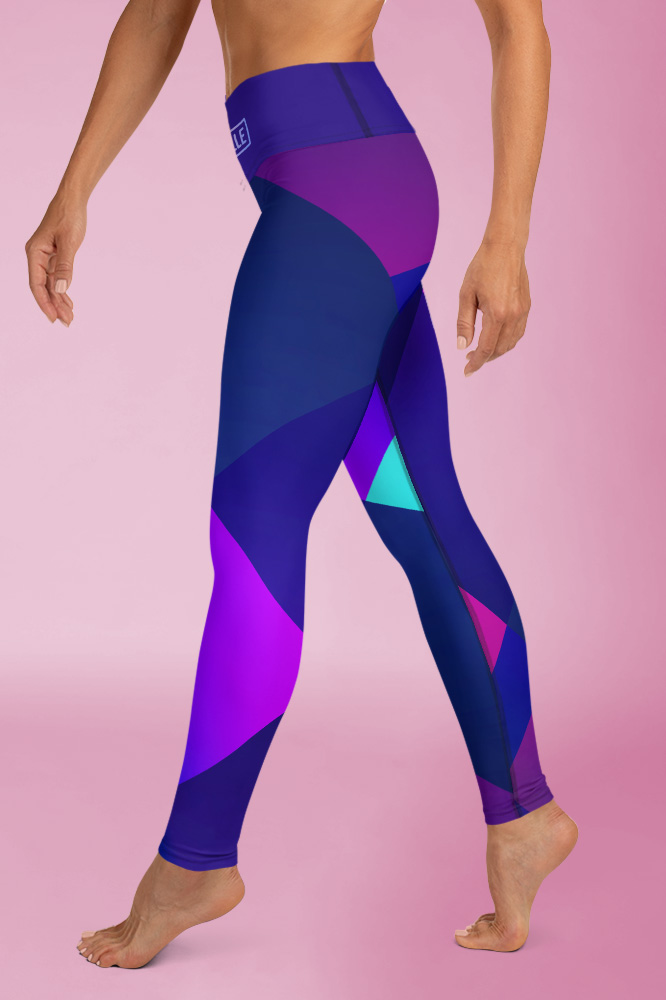 Ibiza | Dark Blue Flashy Leggings