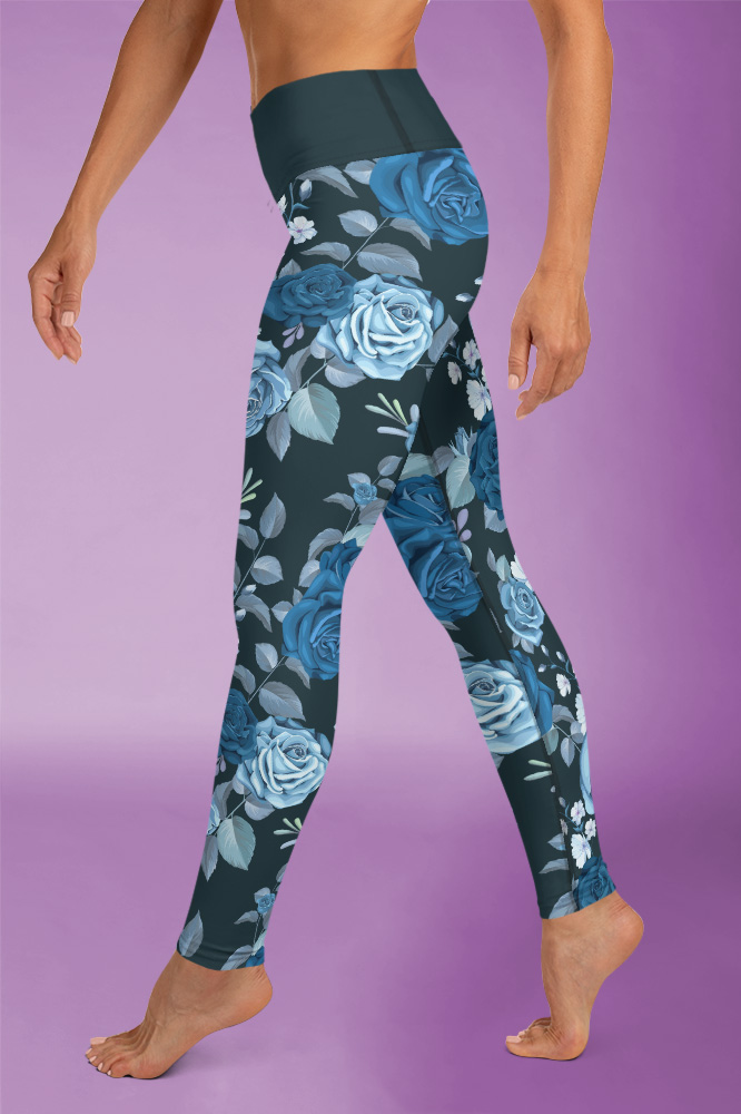 Rosi | Dark Flower Printed Leggings