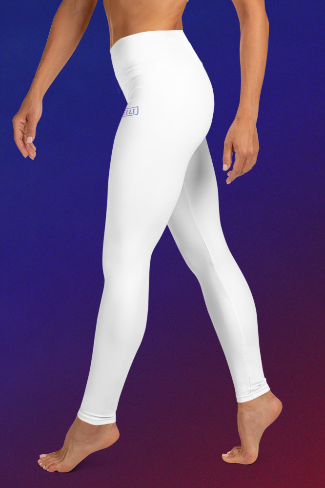 White Technical Leggings