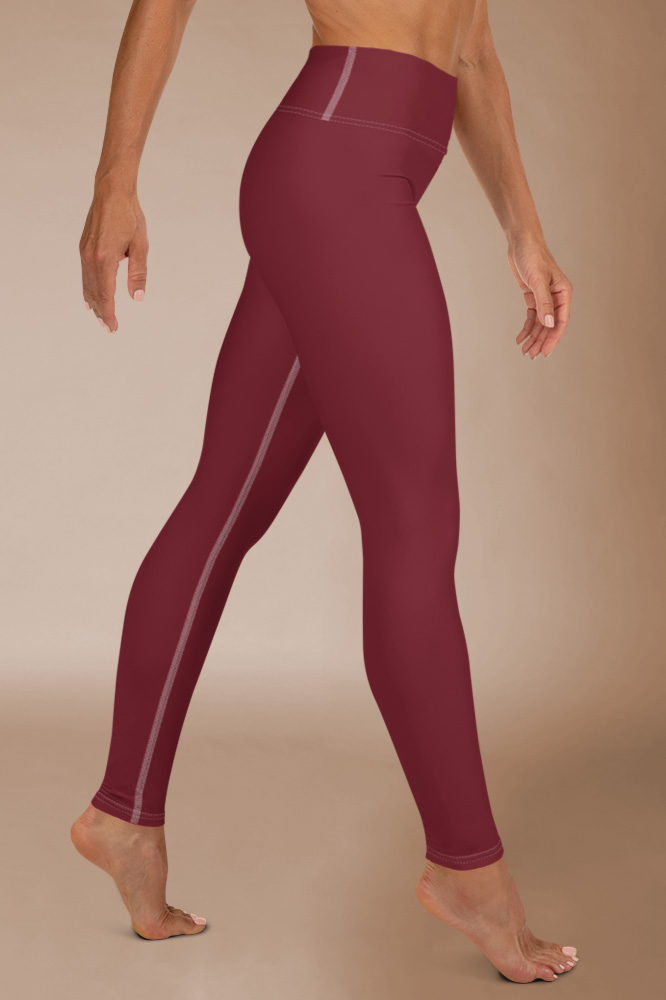 Rouge Bordeaux Technical Leggings