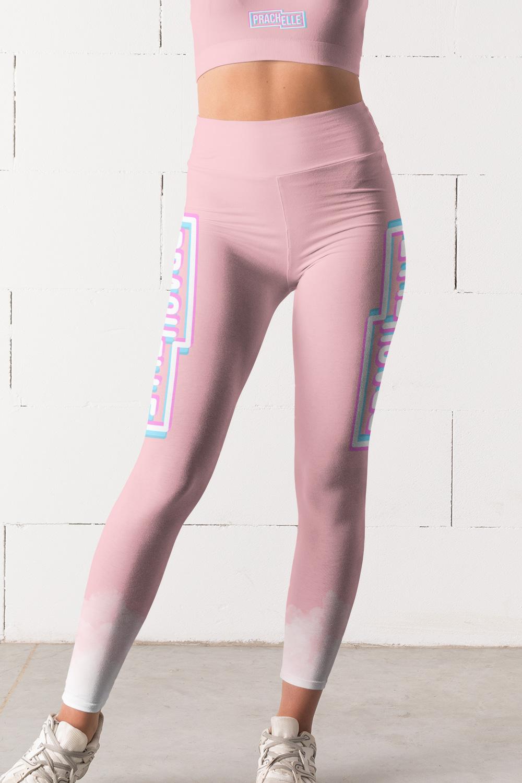 Rosée du matin | Pink Prachelle Leggings