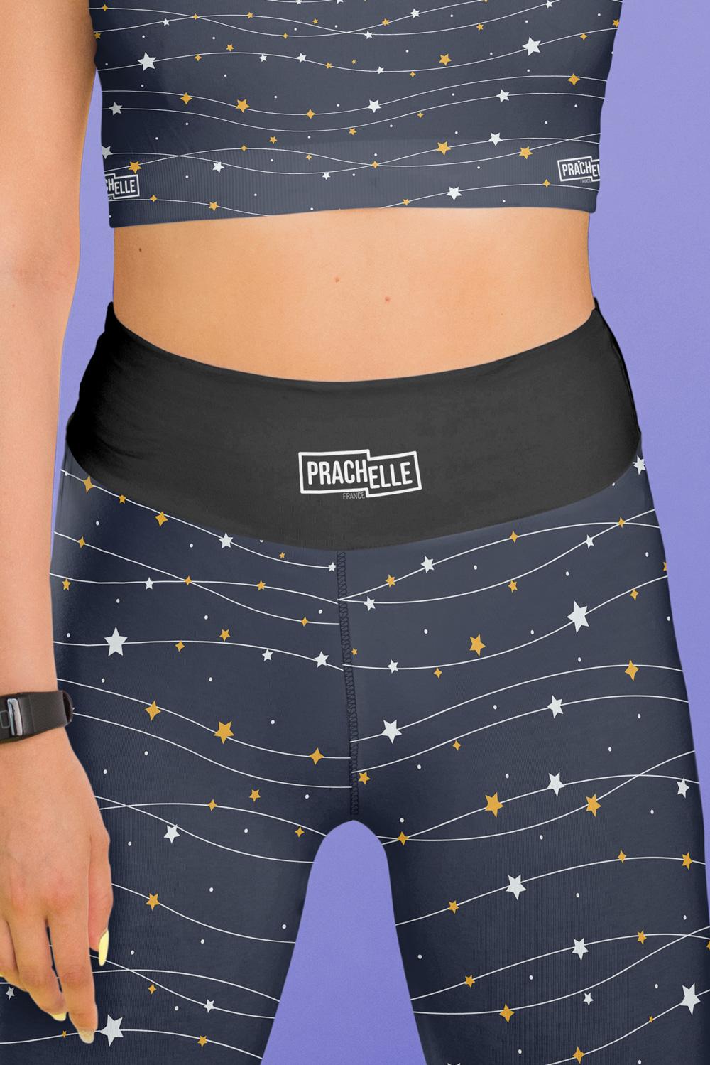 Étoiles filantes | Leggings noirs étoilés