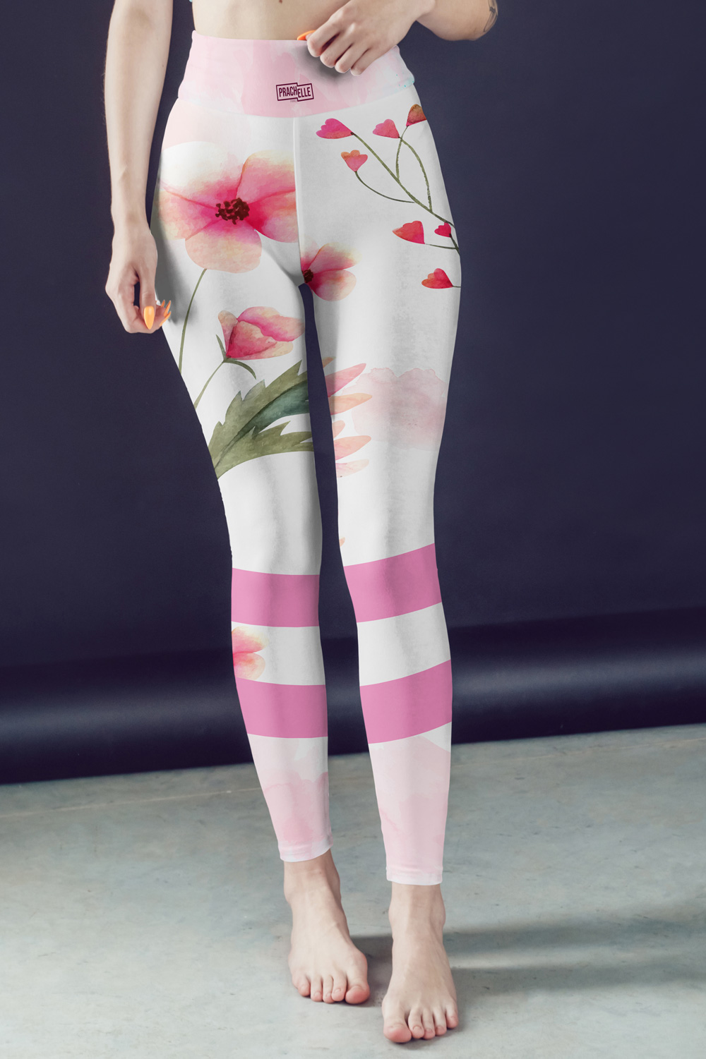 Coquelicots | Colorful Watercolor Leggings