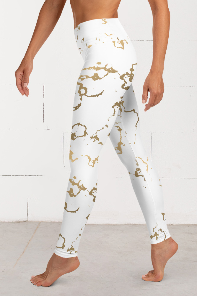 Versailles | Golden Marble Leggings