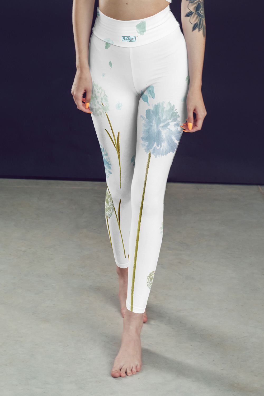 Pissenlits | White Watercolor Leggings