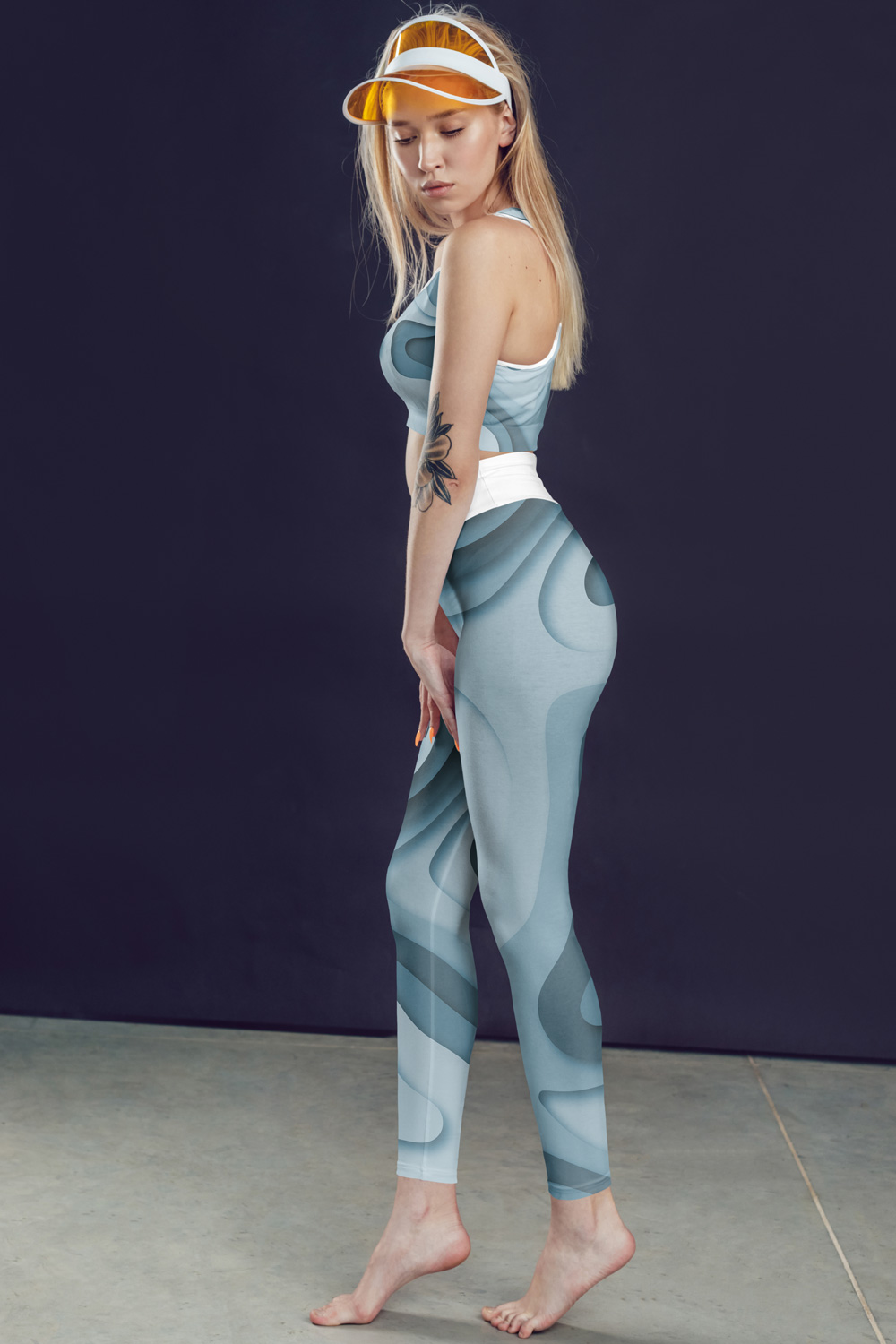 Geo | Leggings Bleus Abstraits