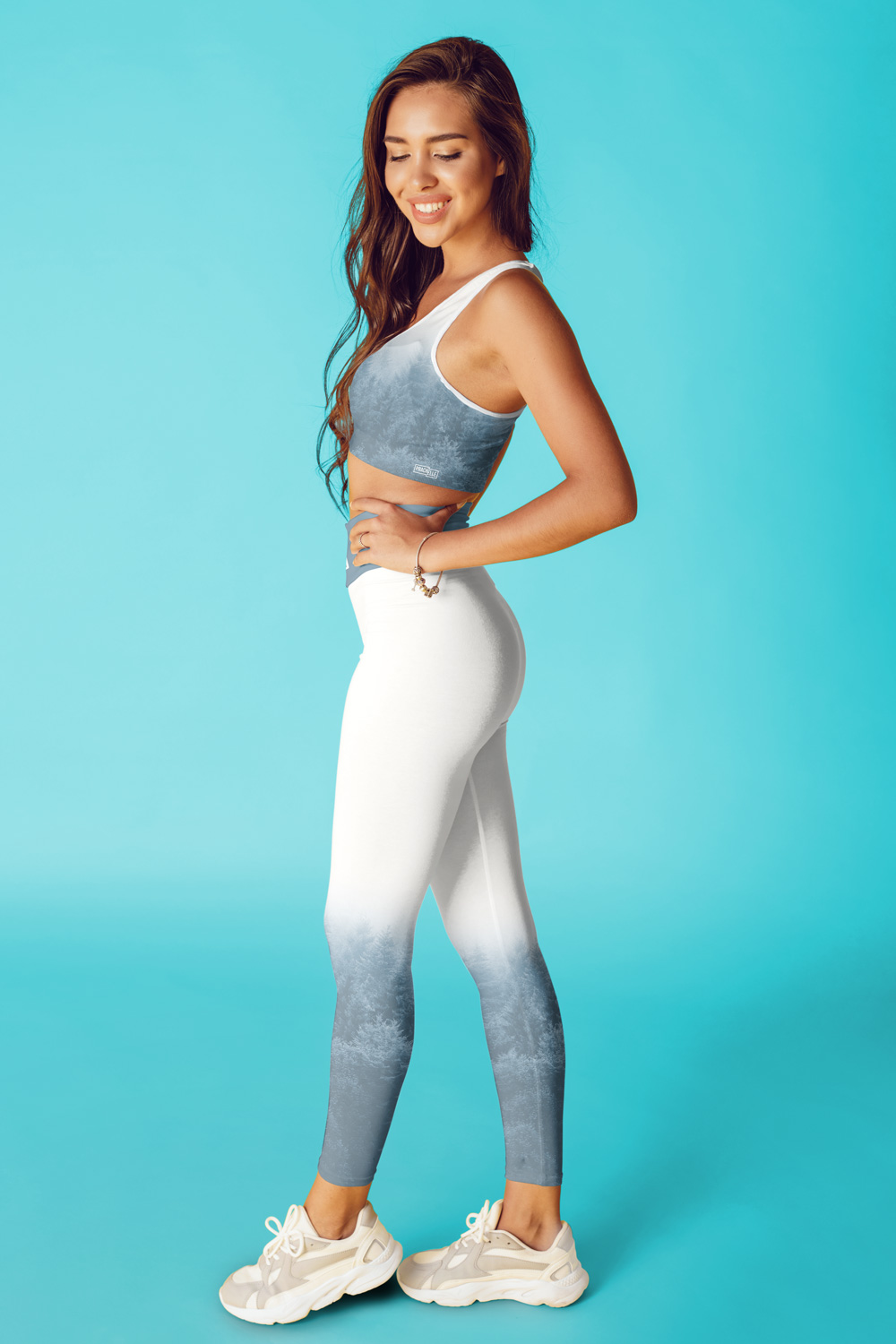 Brume | Blue Pastel Printed Leggings