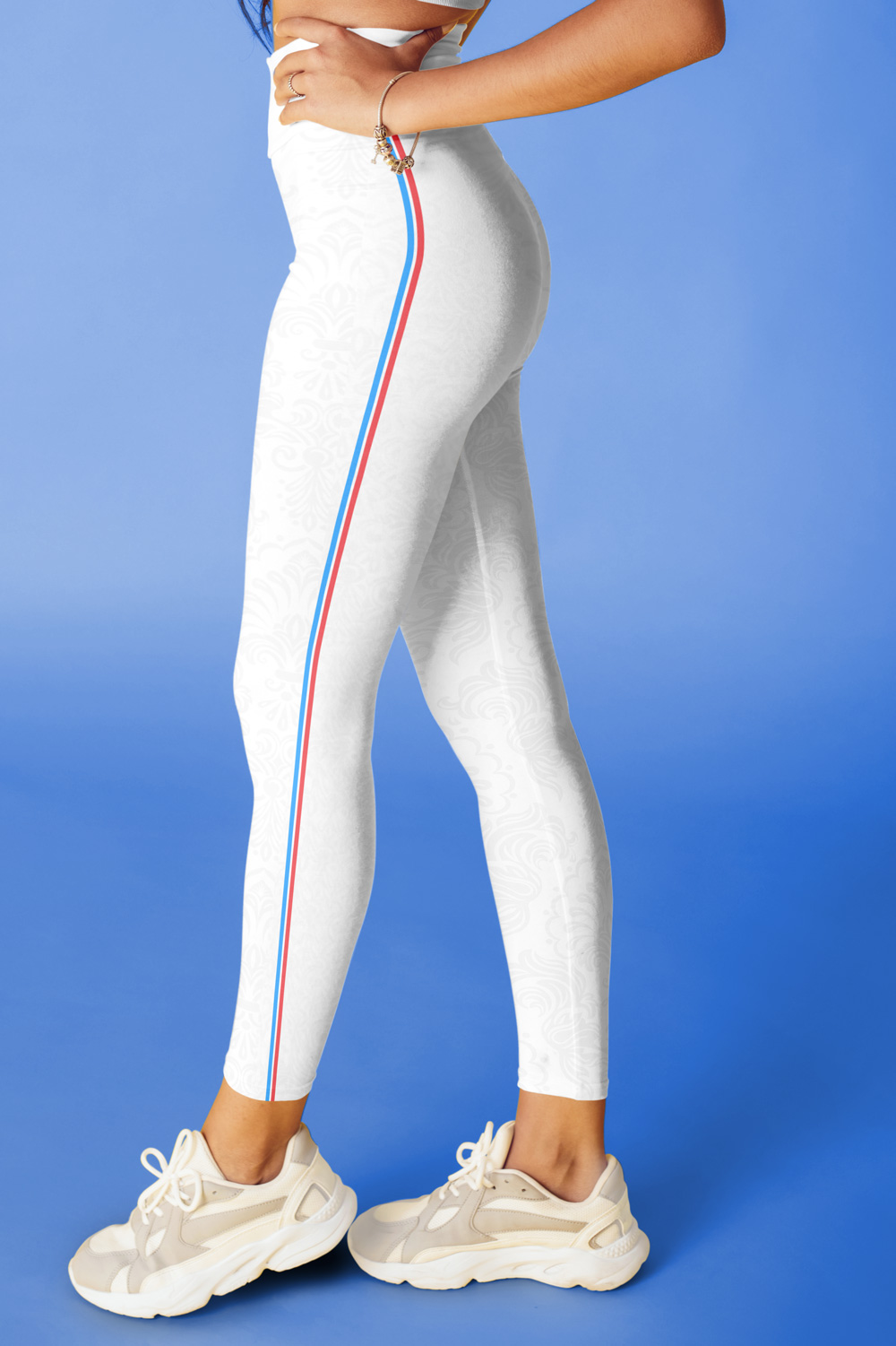 French Touch | White Sideband Leggings