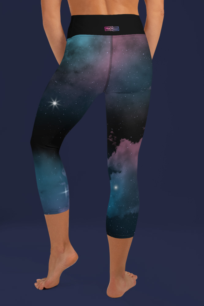 Star Cluster | Galaxy Printed Capri Leggings