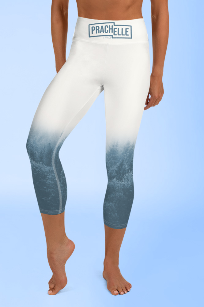 Brume | Blue Pastel Printed Capri Leggings