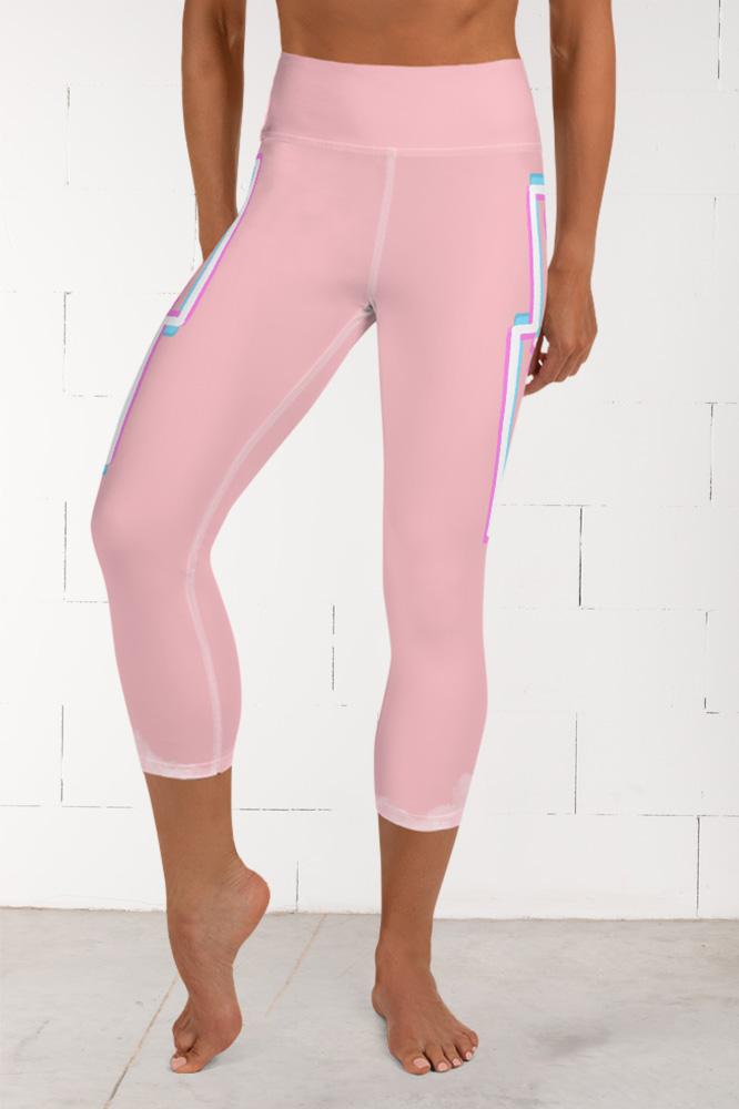 Rosée du matin | Pink Prachelle Capri Leggings