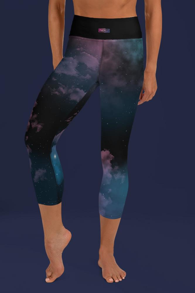 Star Cluster | Galaxy Printed Capri Leggings