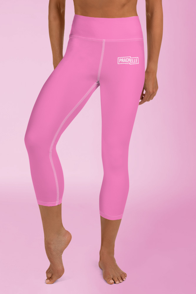 Pink Technical Capri Leggings