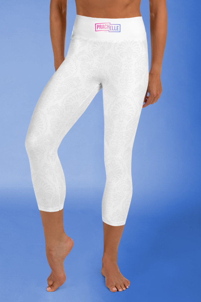 French Touch | White Sideband Capri Leggings