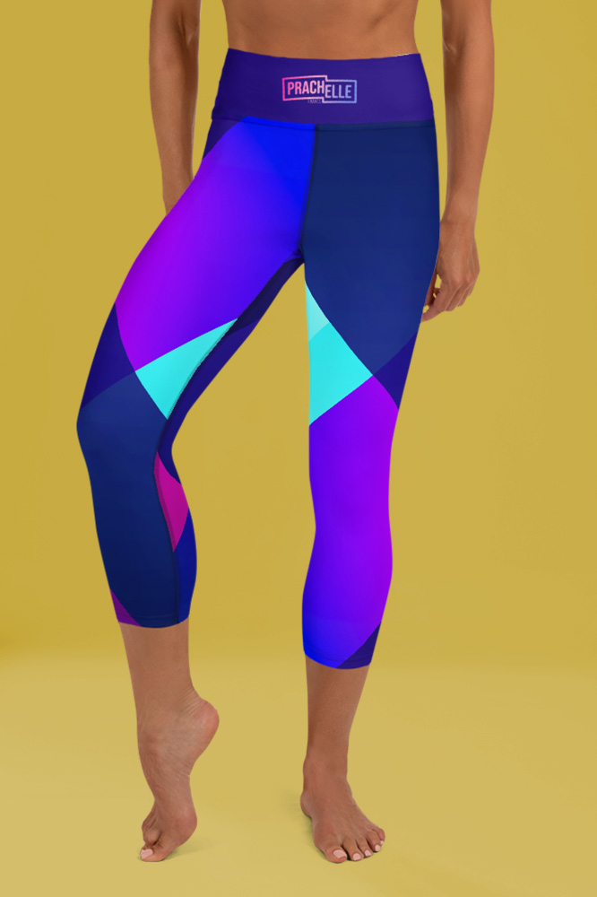 Ibiza | Dark Blue Flashy Capri Leggings