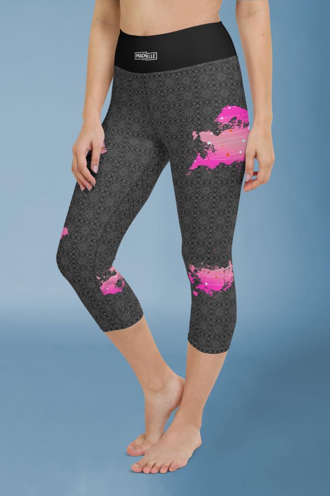 Pink Scratches | Capris Noirs Élégants