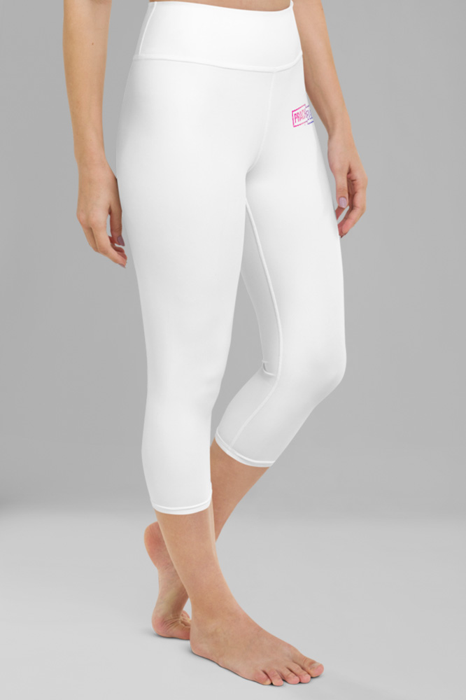 White Technical Capri Leggings