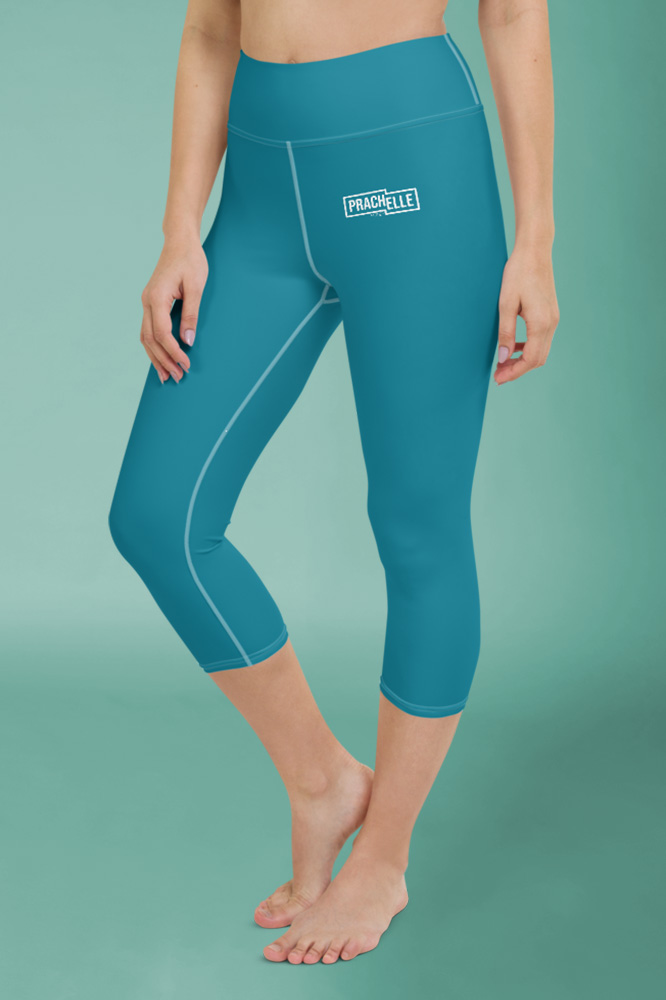 Caeruleum Blue Technical Capri Leggings