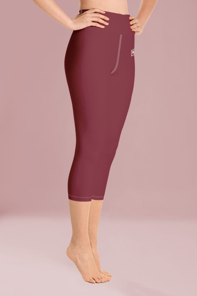 Rouge Bordeaux Technical Capri Leggings
