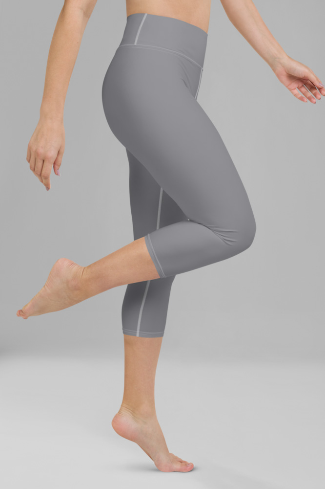 Grey Technical Capri Leggings