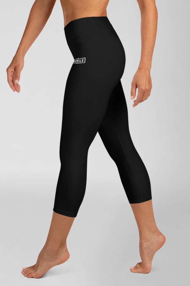 Black Technical Capri Leggings