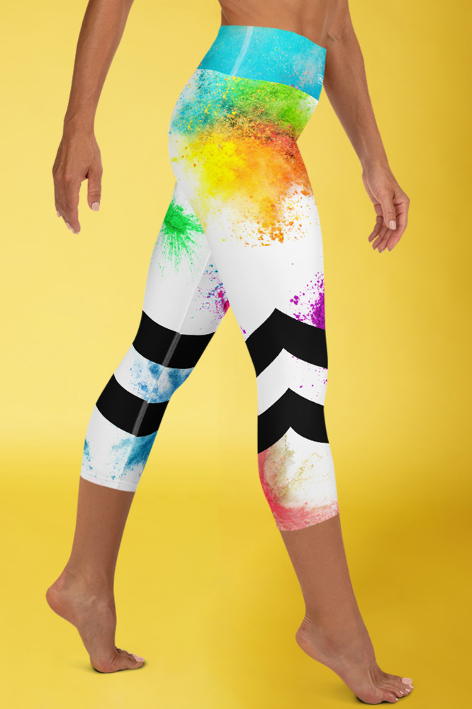 Pop Colors | Colorful Capri Leggings