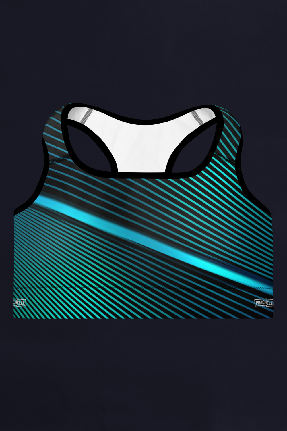 Blue Lines | Black Sports Bra