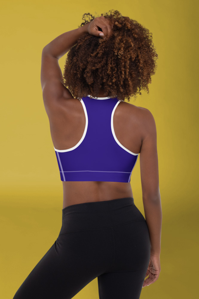 Ibiza | Dark Blue Flashy Sports Bra