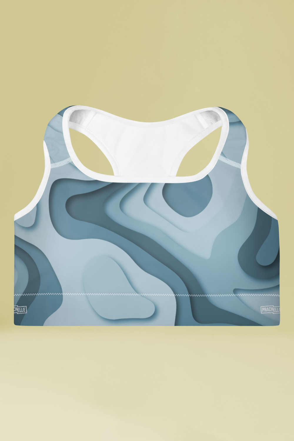 Geo | Abstract Blue Sports Bra