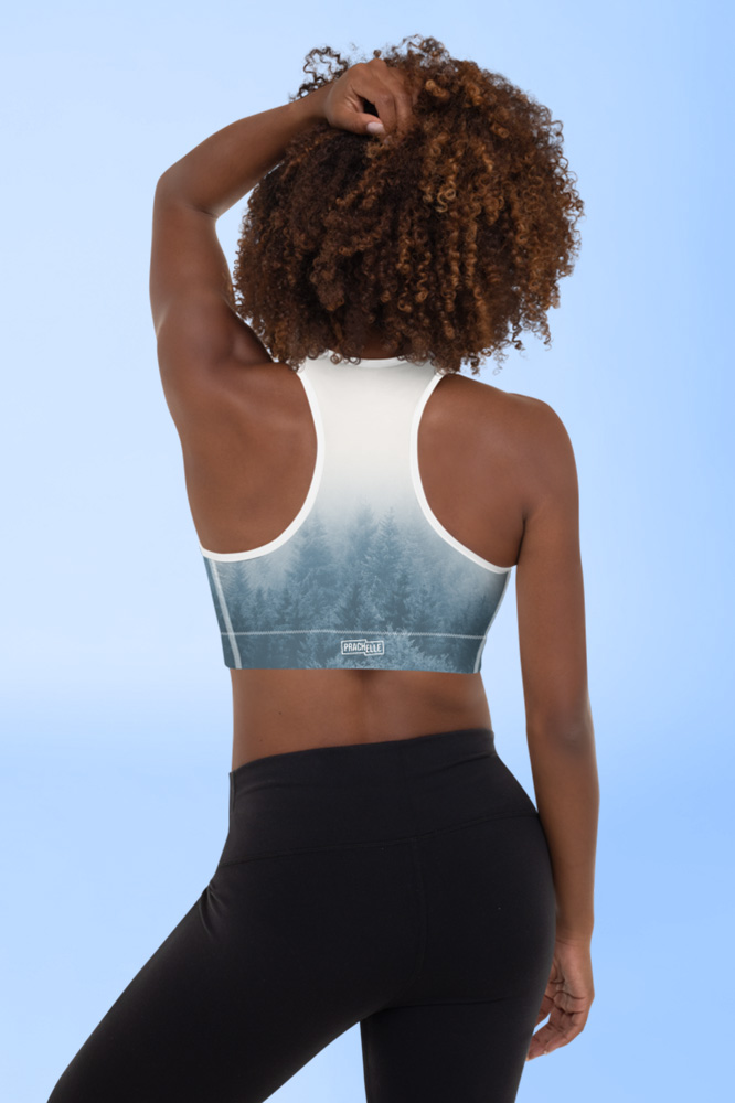 Brume | Blue Pastel Printed Sports Bra