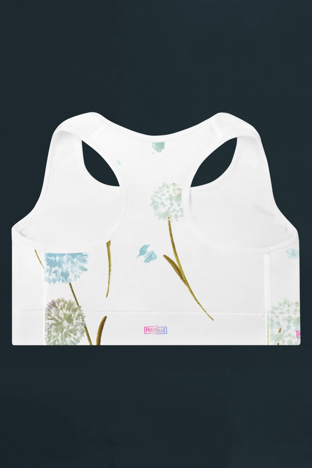 Pissenlits | White Watercolor Sports Bra