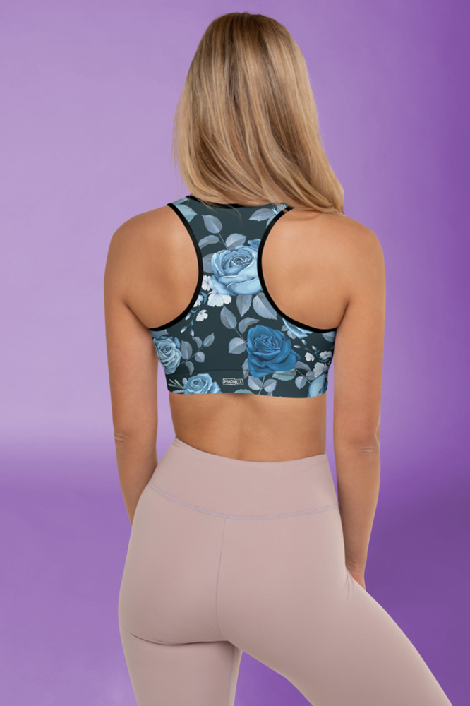 Rosi | Dark Flower Printed Sports Bra