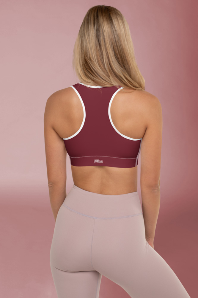 Rouge Bordeaux Technical Sport Bras